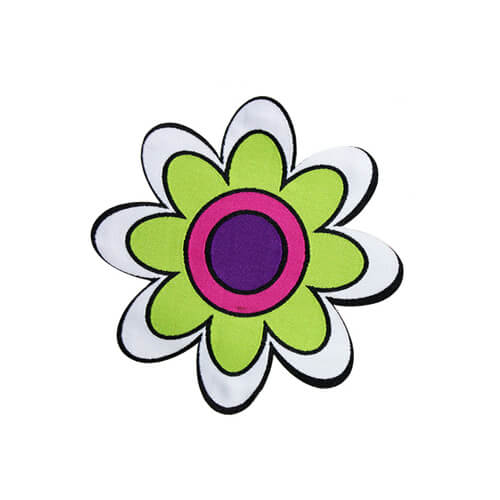 beautiful flower woven nylon labels