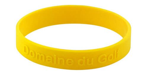 Embossed rubber silicone bracelet