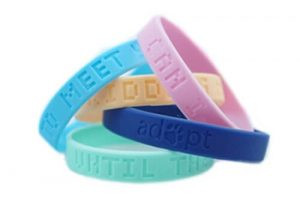 custom debossed sport wristband