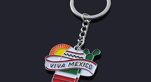 Mexico Cancun souvenir keyring