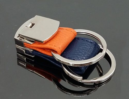 Detachable leather key ring