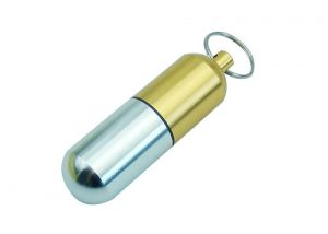 Fashion pill container keychain