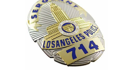 Losangeles police badge