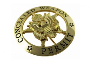 Concealed weapon permit badge