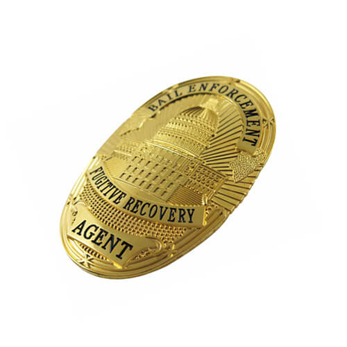 American engraved sheriff badge
