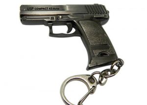 Cross fire game gun model keyring