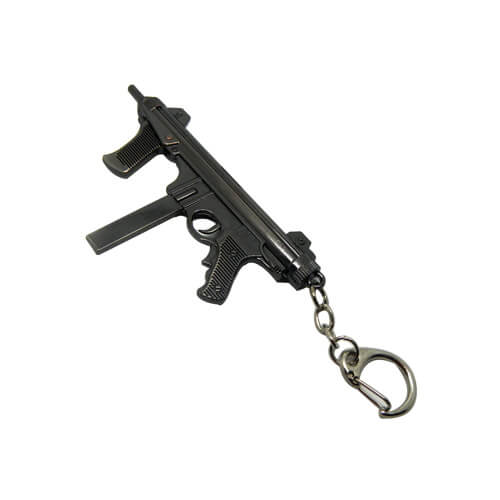 Cross fire gun model keyring
