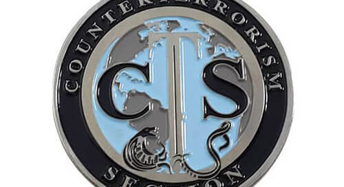 Custom counter terrorism coins