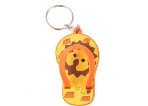 3D Slipper plastic key fob