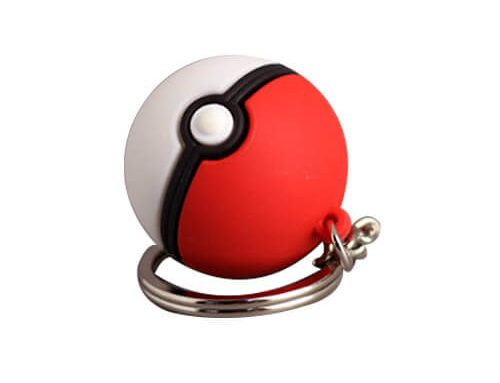 Poke ball key ring soft toy