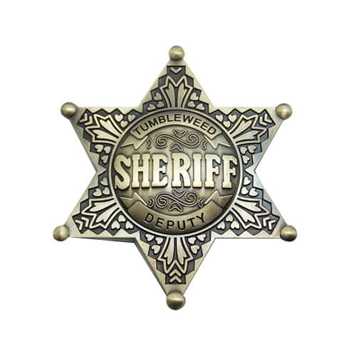 Tumbleweed sheriff badge