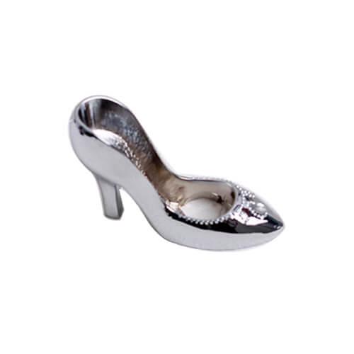 Silver high heel bottle opener wedding favor