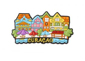 Curaçao beach souvenir fridge magnets