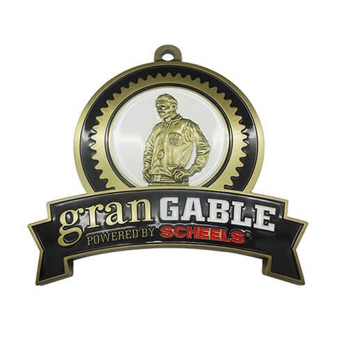 Antique bronze power medal