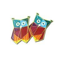 Funny night owl lapel pin