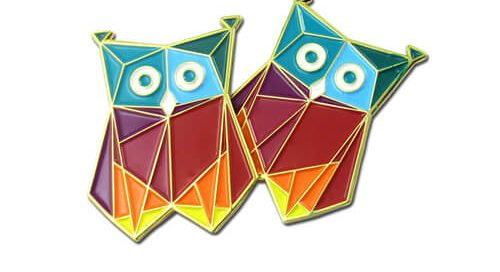 Funny night owl lapel pin