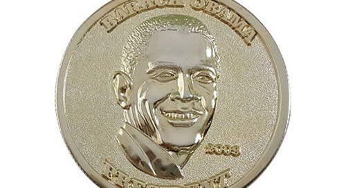 President Barack Obama commemorative coin
