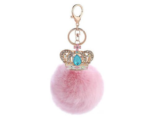 Crown pom pom bag hanger