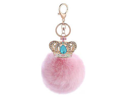 Crown pom pom bag hanger
