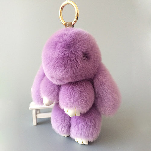 Plush bunny doll keychain