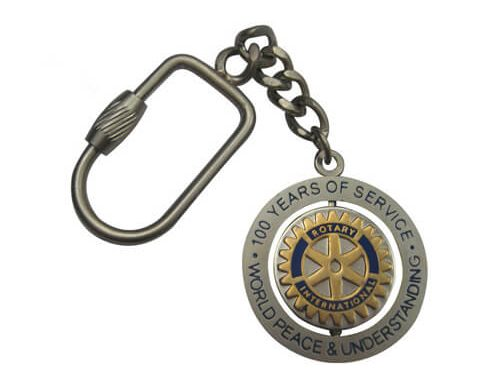 years of service spinner keychain