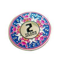 Customer service award pin badge