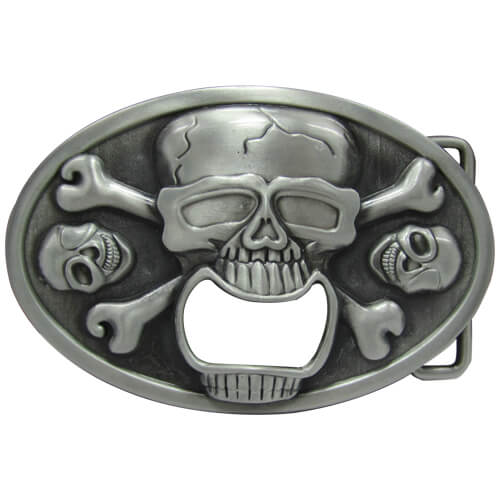 skull bottle opener belt
