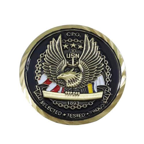 Custom military challenge coins