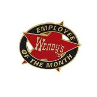 Wendy's employee lapel pin