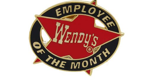 Wendy's employee lapel pin
