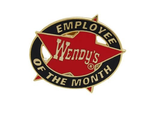 Wendy's employee badges