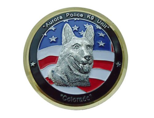 3D wolf military challenge coins