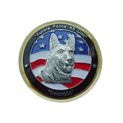 3D howling wolf commemorative coins