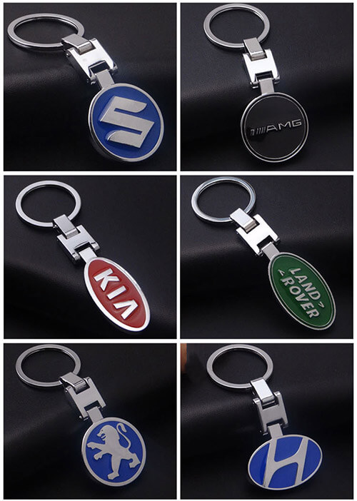 Wholesale car keychain car key decoration