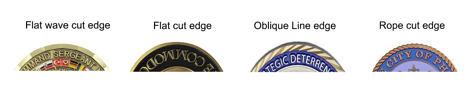 challenge coins edges options