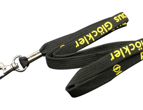 Black tubular lanyards
